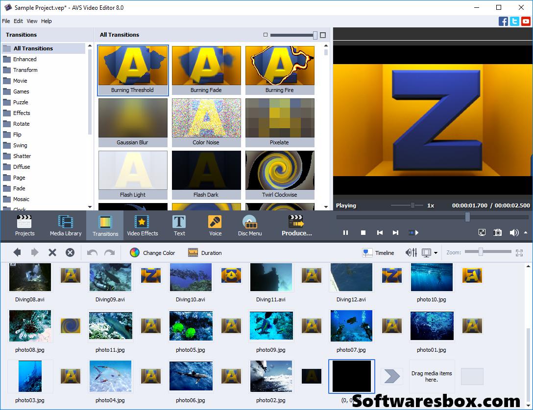 AVS Video Editor Crack 8.0.4.305 + Keygen Full Version Free Download