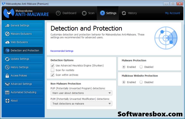 Malwarebytes Anti-Malware 3.6.1.2711 Crack + License Key Premium {Updated 2019}