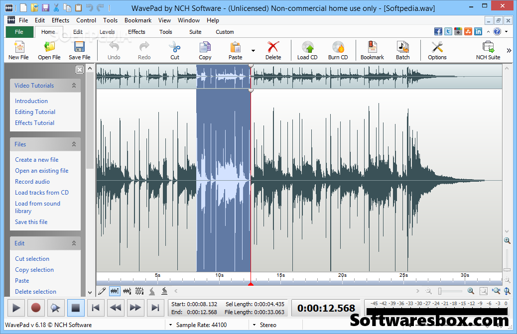 NCH WavePad Sound Editor 8.11 Crack + Registration Code Free Download