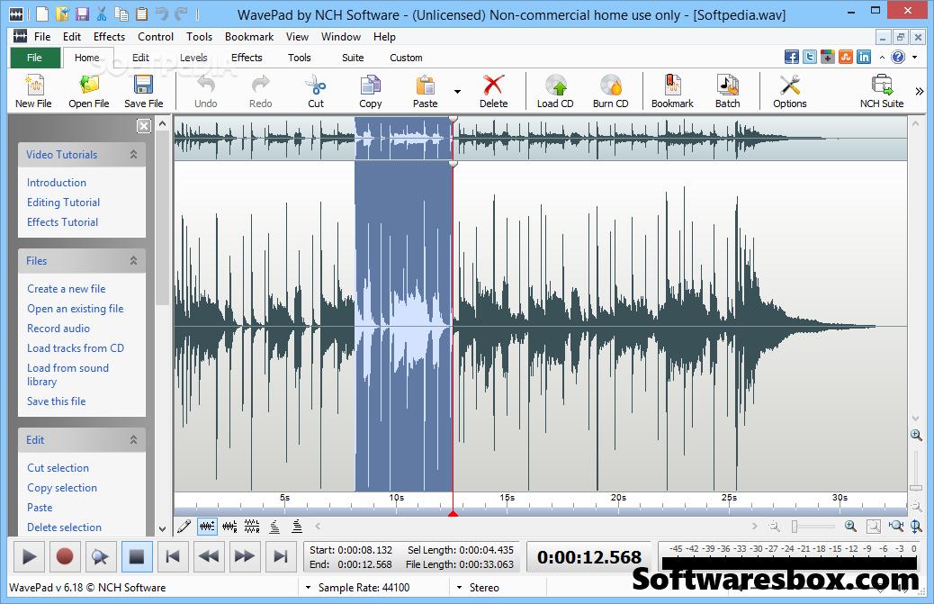 NCH WavePad Sound Editor 8.11 Crack + Registration Code Free Download