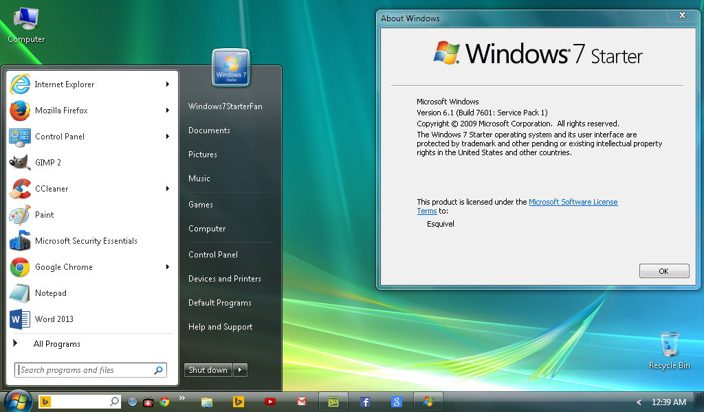 Windows 7 Starter Download Free Full Version ISO 32